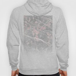 Pastel Pink & Grey Marble - Ombre Hoody
