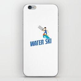 Eat Sleep Water Ski Repeat Water Skiing Skier iPhone Skin