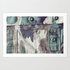 Everything Goes With Camoflage Art Print