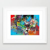 archan nair Framed Art Prints featuring Microcrystalline Tendrils by Archan Nair