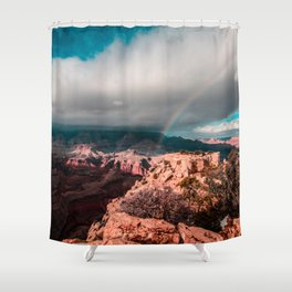 Rainbow over the Canyon Shower Curtain