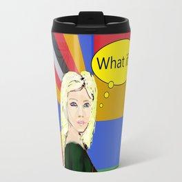 What if...popart female portrait Travel Mug