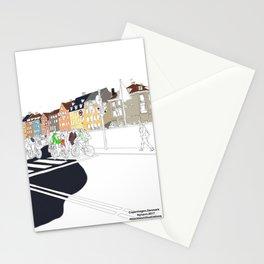 Copenhagen,Nyhavn illustration by blackblomillustrations Stationery Cards