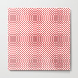 Georgia Peach and White Polka Dots Metal Print