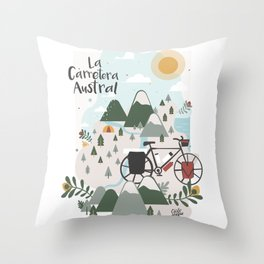 La Carretera Austral Throw Pillow