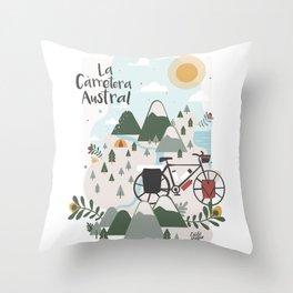 La Carretera Austral Throw Pillow