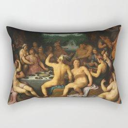 Cornelis Cornelisz. Van Haarlem -  The Garden Of Love Rectangular Pillow