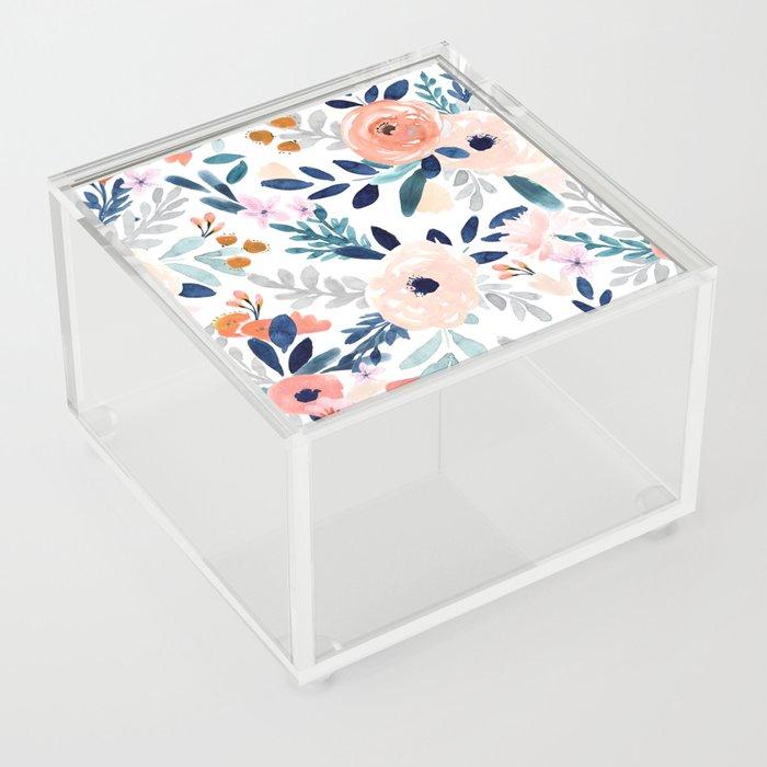 Jolene Floral Acrylic Box