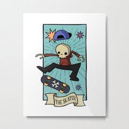 Tarot skate Metal Print