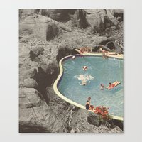 eddie vedder Canvas Prints featuring is this the place that they call paradise? by Jesse Treece