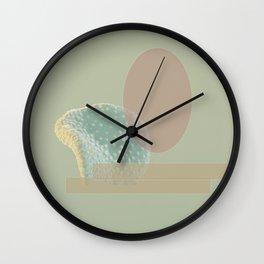 Geo-Florals Green Wall Clock