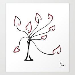 Potted Firebrand Art Print