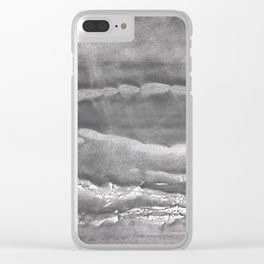 Gray cloud Clear iPhone Case