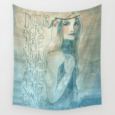 I must be a mermaid Wall Tapestry