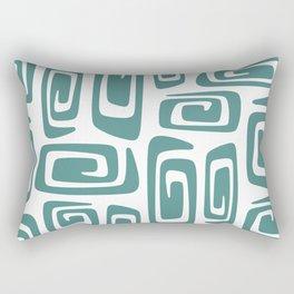 Mid Century Modern Cosmic Abstract 613 Teal Green Rectangular Pillow