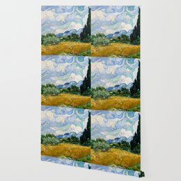 "Vincent van Gogh ""Wheat Field with Cypresses"" Wallpaper"