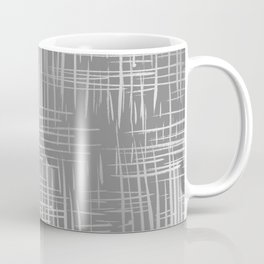 Crosshatch Gray Coffee Mug