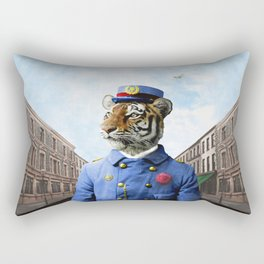 Postmaster Trenton Tigre on his Appointed Rounds Rectangular Pillow