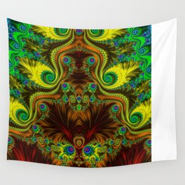 Fractal - My Mother's Dress Mirrored Wall Tapestry