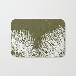 Olive Doodle Floral by Friztin Bath Mat