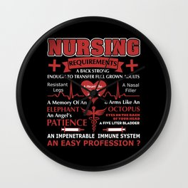 Nursing Requirements, An Easy Profession Wall Clock