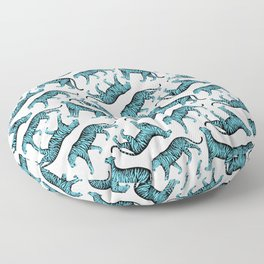 Tigers (White and Blue) Floor Pillow