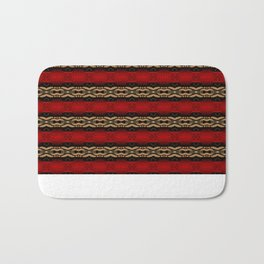 Red and brown pattern  Bath Mat