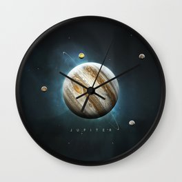 A Portrait of the Solar System: Jupiter Wall Clock