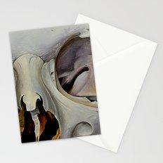 close up skull 4 Stationery Cards