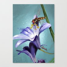 Wasp on flower 11 Canvas Print