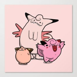 Pokémon - Number 35 & 36 Canvas Print