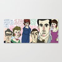 mad men Canvas Prints featuring Mad Men by Monica Alexander