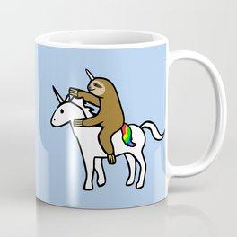 Slothicorn Riding Unicorn Coffee Mug