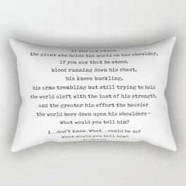Minimal Ayn Rand Quote 02- Atlas Shrugged - Modern, Classy, Sophisticated Art Prints For Interiors Rectangular Pillow