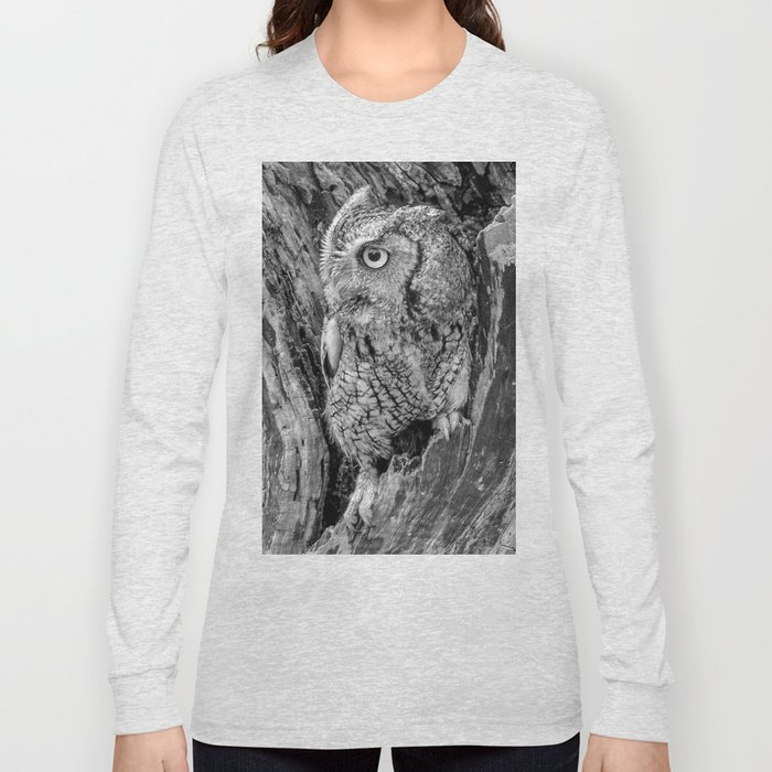 Echo the Screech Owl by Teresa Thompson Long Sleeve T-shirt