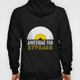27th Birthday Present Funny Awesome For 27 Years Hoody
