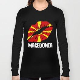 MKD Macedonia Kiss Lips Tee Shirt Long Sleeve T-shirt