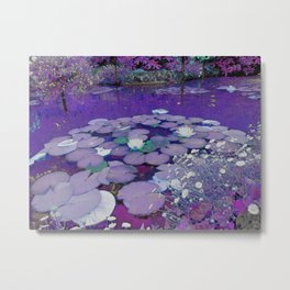 Purple Lake Dreaming Metal Print