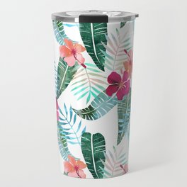 Island Goddess Tropical White Travel Mug