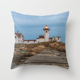 Long exposure of Eastern Point Lighthouse Throw Pillow