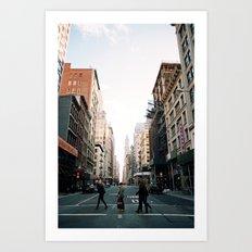 New York Stride Art Print