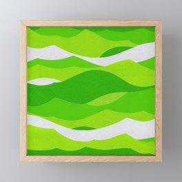 Waves - Lime Green Framed Mini Art Print