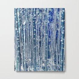 Aspen Trunks Variation No. 2 in Blue Metal Print