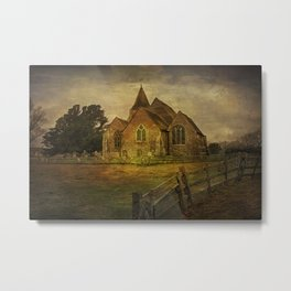 St Clement's Old Romney From The East Metal Print