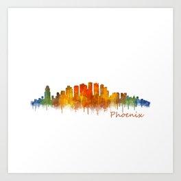 Phoenix Arizona, City Skyline Cityscape Hq v2 Art Print