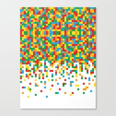 Pixel Chaos Canvas Print