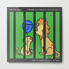 Hooman Zoo Metal Print