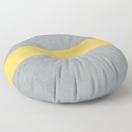 gray and yellow classic Floor Pillow