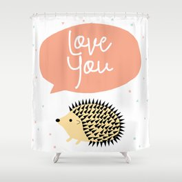Hedgegog love Shower Curtain