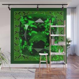 EMERALD GREEN MAY GEM BIRTHSTONE MODERN ART DESIGN Wall Mural